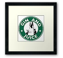 'Sipping on Gin and Juice' Framed Print