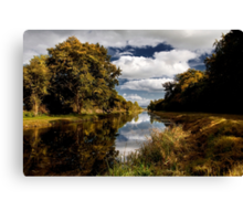 Autumn Light, Grand Canal, Co Kildare, Ireland. Canvas Print