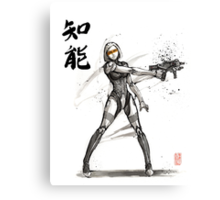 EDI from Mass Effect Universe sumi and watercolor style Canvas Print