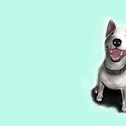 Lola English Bull Terrier Painting by Sookiesooker