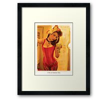 Self Portrait with Absinthe Glass Framed Print