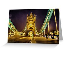 Tower Bridge at night  Greeting Card