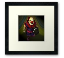 Welcome To The Freaky Frogster's Carnival Of Fright Framed Print