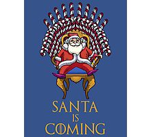 Santa is Coming Photographic Print