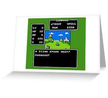 A Slime Draws Near Greeting Card