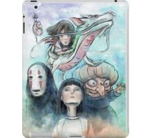 Spirited Away Miyazaki Tribute Watercolor Painting iPad Case/Skin