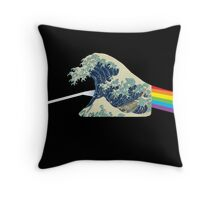 The dark side of the wave. - Amazing mashup -  Throw Pillow