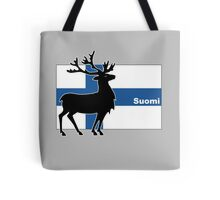 Suomi: Finnish Flag and Reindeer Tote Bag