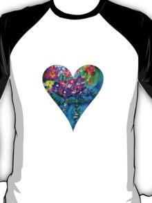 Red Floral Heart Designer Art Gifts T-Shirt