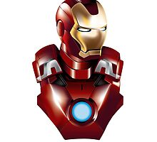 IRON MAN BUST by megaman1980