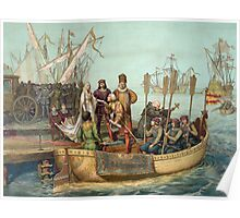 First Voyage of Christopher Columbus Poster