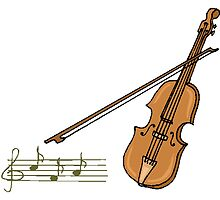 Violin And Musical Notes by kwg2200