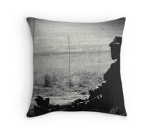 BLACK AND WHITE LONELINESS...... Throw Pillow