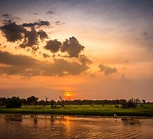 Yellow Water Sunset, Kakadu by Russell Charters