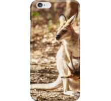 Whiptail Wallaby & joey iPhone Case/Skin