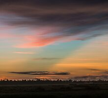 Dawn above the largest swamp in southern Laos. by Thomas Calame