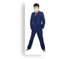 The 10th Doctor - David Tennant Canvas Print
