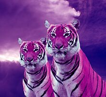 Purple Tiger and Sky by Erika Kaisersot