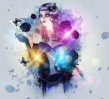 Abstract background with gothic girl 2 by AnnArtshock