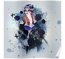 Abstract background with gothic girl 3 Poster