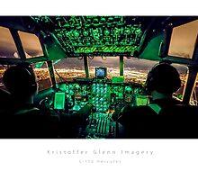 C-130 Hercules Night Landing by KristofferGlenn