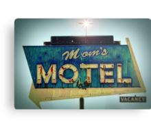 Mom's Motel Metal Print