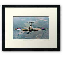 BBMF Spitfire IIa P7350 over South Lincolnshire Framed Print