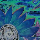 Oil Sunflower Flower Painting Poster Print by derekmccrea