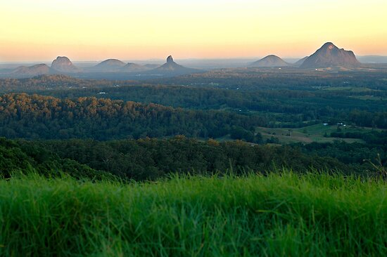 Glasshouse Mountains Sunset by Judy Harland