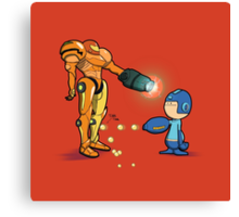 Samus Vs Mega Canvas Print