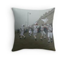Misty Morning Levitation Throw Pillow