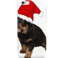 Happy Holidays Rottweiler Christmas Greetings iPhone Case/Skin