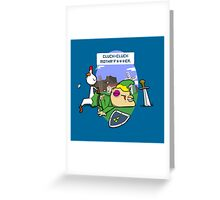 Cluck Cluck Motha' F***er.  Greeting Card