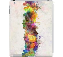 Halifax skyline in watercolor background iPad Case/Skin