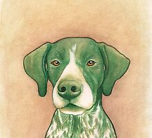 Jola #02 - German Short-Haired Pointer by PaperTigressArt