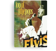 Top of the Pops: Elvis Presley Canvas Print