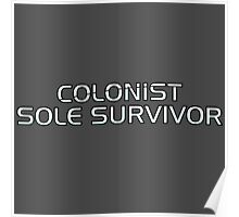 Mass Effect Origins - Colonist Sole Survivor Poster