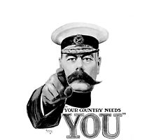World War one, Lord Kitchener, WW1, Your Country needs you! by TOM HILL - Designer