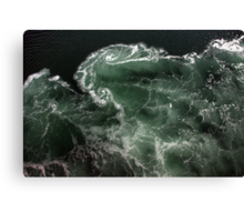 Turbulence - A birds eye view Canvas Print