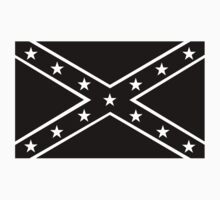 Confederate, Rebel, Dixie Flag, BLACK, Pre USA, America, American by TOM HILL - Designer
