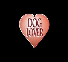 Dog Lover at heart, Walkies, Black by TOM HILL - Designer