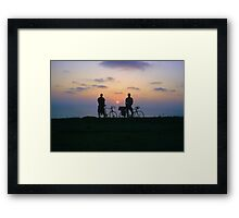 End of a Great Day Framed Print