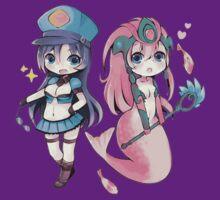 Cute Officer Caitlyn & Koi Nami - League of Legends! by marcoluigi92