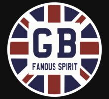 Famous British Spirit - Union Jack Flag T-Shirt T-Shirt