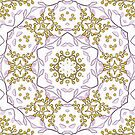 Gold Budded Blossoms Print by red addiction