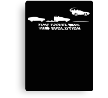 Time Travel Evolution Canvas Print