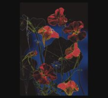 Nasturtiums at Night T-Shirt by ©   Elaine van Dyk