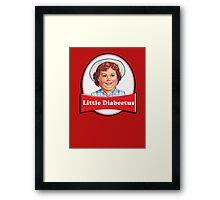 Little Diabeetus - little Debbie parody Framed Print