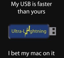 My USB is faster (black) by Thomas Prowse