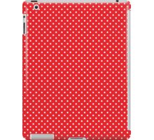 Polkadots Red and White iPad Case/Skin